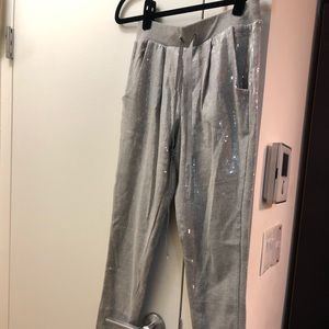 Bebe sequence grey joggers